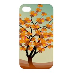 Branches Field Flora Forest Fruits Apple Iphone 4/4s Hardshell Case by Nexatart