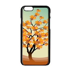 Branches Field Flora Forest Fruits Apple Iphone 6/6s Black Enamel Case by Nexatart
