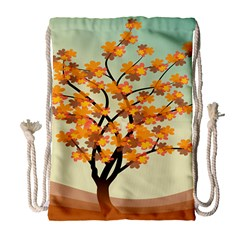 Branches Field Flora Forest Fruits Drawstring Bag (large)