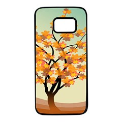 Branches Field Flora Forest Fruits Samsung Galaxy S7 Black Seamless Case by Nexatart