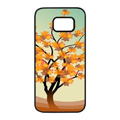 Branches Field Flora Forest Fruits Samsung Galaxy S7 Edge Black Seamless Case