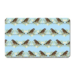 Sparrows Magnet (rectangular) by SuperPatterns
