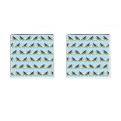 Sparrows Cufflinks (square) by SuperPatterns