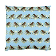 Sparrows Standard Cushion Case (one Side) by SuperPatterns