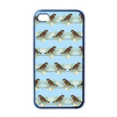 Sparrows Apple Iphone 4 Case (black) by SuperPatterns