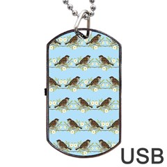Sparrows Dog Tag Usb Flash (two Sides) by SuperPatterns