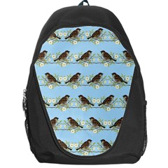 Sparrows Backpack Bag by SuperPatterns
