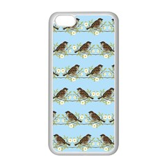 Sparrows Apple Iphone 5c Seamless Case (white) by SuperPatterns
