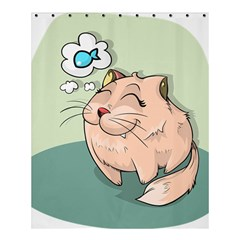 Cat Animal Fish Thinking Cute Pet Shower Curtain 60  X 72  (medium)  by Nexatart