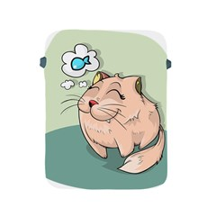 Cat Animal Fish Thinking Cute Pet Apple Ipad 2/3/4 Protective Soft Cases by Nexatart