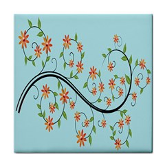 Branch Floral Flourish Flower Tile Coasters by Nexatart