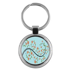 Branch Floral Flourish Flower Key Chains (round)