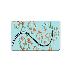 Branch Floral Flourish Flower Magnet (name Card) by Nexatart