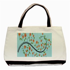 Branch Floral Flourish Flower Basic Tote Bag by Nexatart