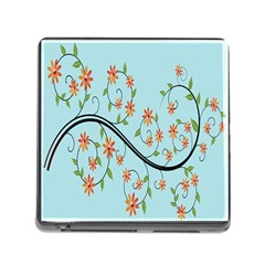 Branch Floral Flourish Flower Memory Card Reader (square)