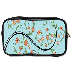 Branch Floral Flourish Flower Toiletries Bags 2 Side