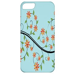 Branch Floral Flourish Flower Apple Iphone 5 Classic Hardshell Case by Nexatart
