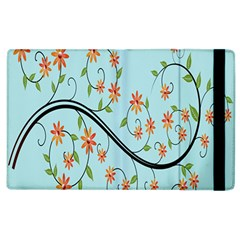 Branch Floral Flourish Flower Apple Ipad 2 Flip Case by Nexatart