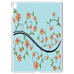Branch Floral Flourish Flower Apple Ipad Pro 9 7   White Seamless Case by Nexatart