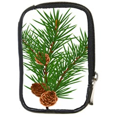 Branch Floral Green Nature Pine Compact Camera Cases by Nexatart