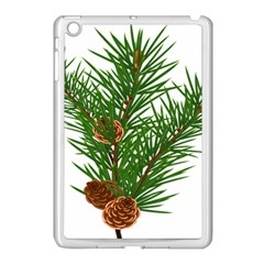 Branch Floral Green Nature Pine Apple Ipad Mini Case (white) by Nexatart