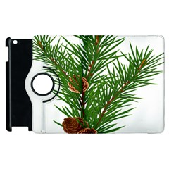 Branch Floral Green Nature Pine Apple Ipad 3/4 Flip 360 Case by Nexatart