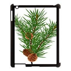 Branch Floral Green Nature Pine Apple Ipad 3/4 Case (black) by Nexatart