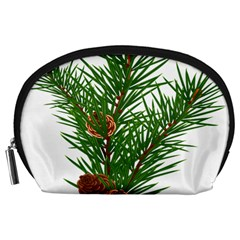 Branch Floral Green Nature Pine Accessory Pouches (large)