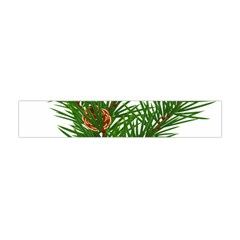 Branch Floral Green Nature Pine Flano Scarf (mini) by Nexatart