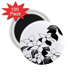 Ecological Floral Flowers Leaf 2 25  Magnets (100 Pack)  by Nexatart