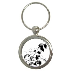 Ecological Floral Flowers Leaf Key Chains (round)