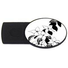 Ecological Floral Flowers Leaf Usb Flash Drive Oval (2 Gb) by Nexatart