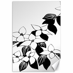 Ecological Floral Flowers Leaf Canvas 12  X 18