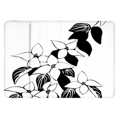 Ecological Floral Flowers Leaf Samsung Galaxy Tab 8 9  P7300 Flip Case by Nexatart