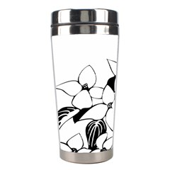 Ecological Floral Flowers Leaf Stainless Steel Travel Tumblers by Nexatart