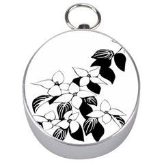 Ecological Floral Flowers Leaf Silver Compasses by Nexatart