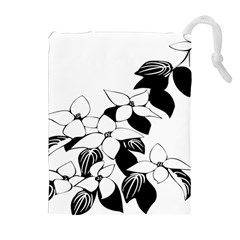 Ecological Floral Flowers Leaf Drawstring Pouches (extra Large)