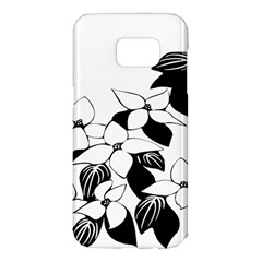 Ecological Floral Flowers Leaf Samsung Galaxy S7 Edge Hardshell Case by Nexatart