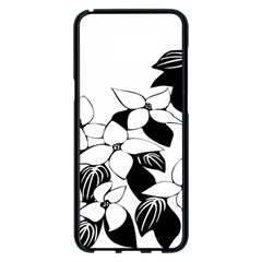Ecological Floral Flowers Leaf Samsung Galaxy S8 Plus Black Seamless Case by Nexatart