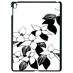 Ecological Floral Flowers Leaf Apple Ipad Pro 9 7   Black Seamless Case by Nexatart