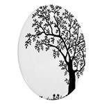 Flowers Landscape Nature Plant Oval Ornament (Two Sides) Back