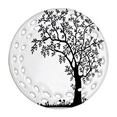 Flowers Landscape Nature Plant Round Filigree Ornament (two Sides) by Nexatart