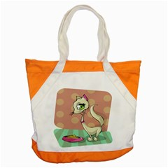 Cat Food Eating Breakfast Gourmet Accent Tote Bag