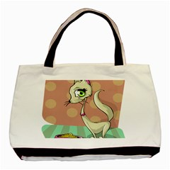 Cat Food Eating Breakfast Gourmet Basic Tote Bag (Two Sides)