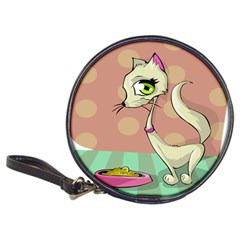 Cat Food Eating Breakfast Gourmet Classic 20-CD Wallets