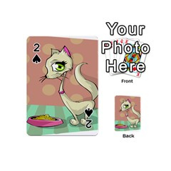 Cat Food Eating Breakfast Gourmet Playing Cards 54 (Mini)
