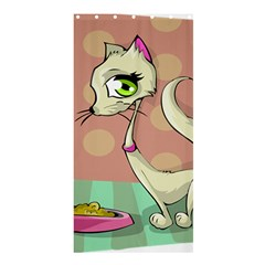 Cat Food Eating Breakfast Gourmet Shower Curtain 36  x 72  (Stall)