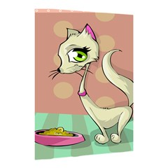 Cat Food Eating Breakfast Gourmet Shower Curtain 48  x 72  (Small)