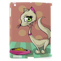Cat Food Eating Breakfast Gourmet Apple iPad 3/4 Hardshell Case (Compatible with Smart Cover)