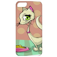 Cat Food Eating Breakfast Gourmet Apple iPhone 5 Classic Hardshell Case